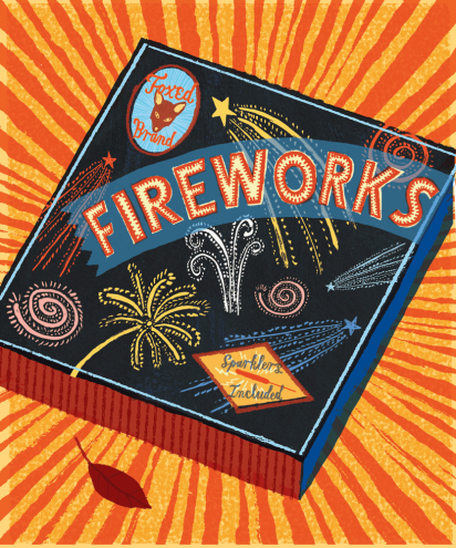 Slightly Foxed Issue 3, Jonny Hannah, 'Foxed Brand Fireworks'