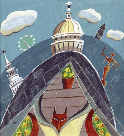 Cover Art: Slightly Foxed Issue 5, Linda Scott, 'Slightly Foxed'
