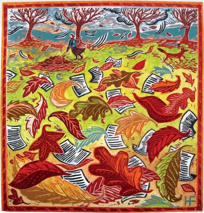 Cover Art: Slightly Foxed Issue 7, Hannah Firmin, 'Autumn'