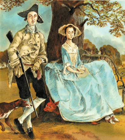 Cover Art: Slightly Foxed Issue 11, John Holder, 'with apologies to Gainsborough'