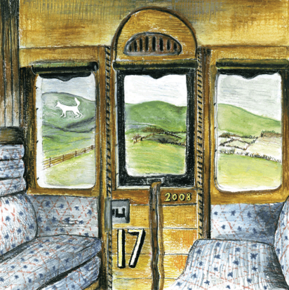 Cover Art: Slightly Foxed Issue 17, James Nunn, 'with apologies to Eric Ravilious '