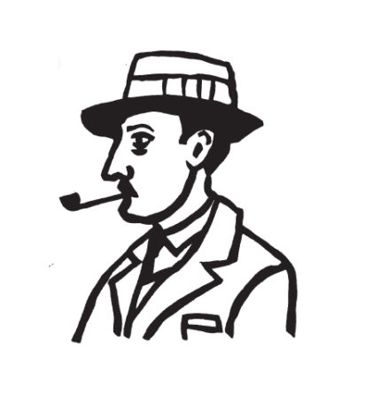 Mark Handley illustration - Josie Barnard on William Faulkner, Slightly Foxed Issue 19