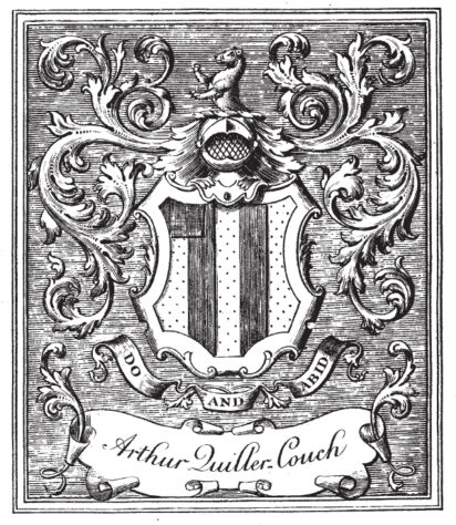Sir Arthur Quiller-Couch's bookplate, kindly supplied by Dr Geoffrey Vevers | Derek Parker article, SF Issue 21