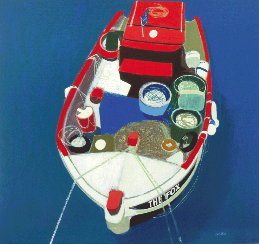 Cover Art: Slightly Foxed Issue 22, Simon Laurie, 'Greek Boat'