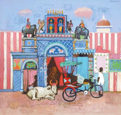 Cover Art: Slightly Foxed Issue 26, Leon Morrocco, 'Blue Temple, Madurai'