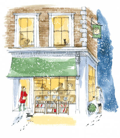 Cover Art: Slightly Foxed Issue 32, Alice Tait, 'Gloucester Road in the Snow'