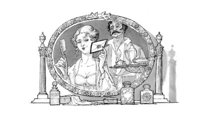 Daniel Macklin illustration - Ysenda Maxtone Graham on William Makpeace Thackeray, Vanity Fair