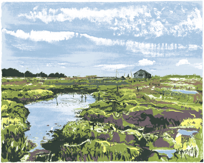Cover Art: Slightly Foxed Issue 33, Andy Lovell, 'Creek'