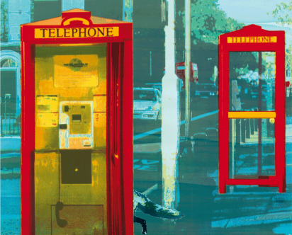Cover Art: Slightly Foxed Issue 39, Janet Brooke, 'Telephone, telephone'