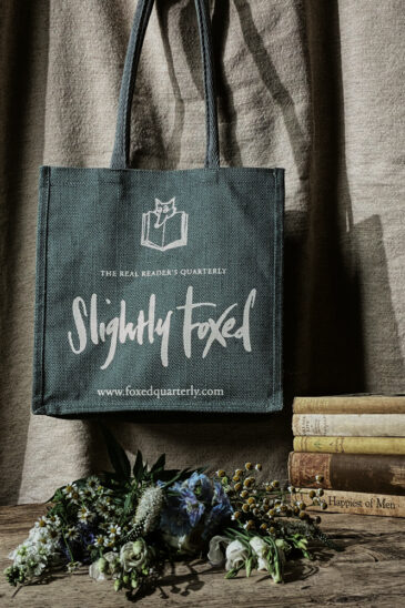 Slightly Foxed Jute Bag, The Book Bag