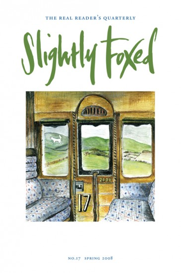 Cover artwork, James Nunn, with apologies to Eric Ravilious - Slightly Foxed Issue 17