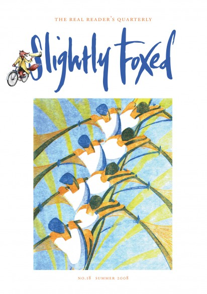 Cover Art: Slightly Foxed Issue 18, Cyril Edward Power, 'The Eight' Linocut by Cyril Edward Power (1872–1951), reproduced courtesy of the Estate of Cyril Edward Power and the Redfern Gallery.