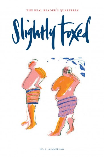 Cover Art: Slightly Foxed Issue 2, Tsugumi Ota, 'Bathers' Tsugumi Ota is a Japanese artist based in London. Her main media are stone and marble sculptures, woodcuts and drawings. Often inspired by myths, poems and classical writings, Tsugumi's images are striking and original.
