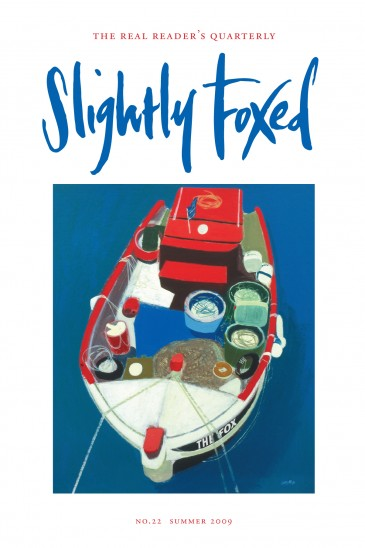 Cover Art: Slightly Foxed Issue 22, Simon Laurie, 'Greek Boat': Simon Laurie trained at the Glasgow School of Art and is a member of the Royal Scottish Society of Watercolourists and the Royal Glasgow Institute of the Fine Arts. He has won many awards and his work is in a number of public collections.