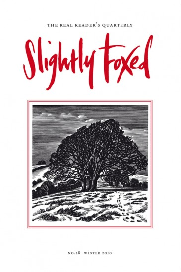 Downs in Winter, wood-engraving, Howard Phipps - Slightly Foxed Issue 28
