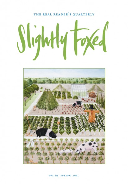 Cover Art: Slightly Foxed Issue 29, Rebecca Campbell, 'The Foragers' Rebecca Campbell's work has been described as 'quintessentially English' but is influenced by an eclectic source of material ranging from Indian Mogul miniatures and Persian textiles to medieval tapestries. She is represented by Jonathan Cooper, Park Walk Gallery, London: www.jonathancooper.co.uk