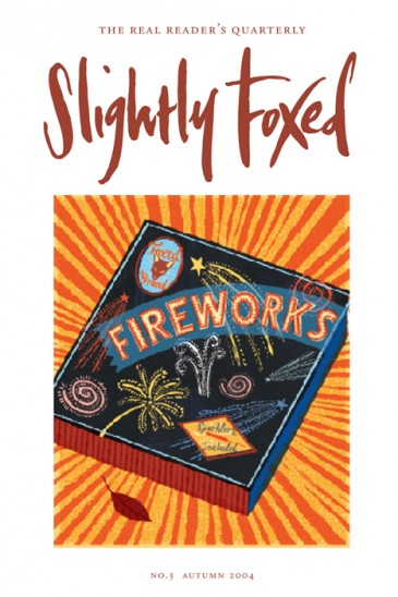 Cover artwork, Jonny Hannah - Slightly Foxed Issue 3