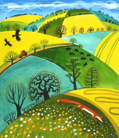 Cover Art: Slightly Foxed Issue 37, Carry Akroyd, 'Fox and Rapefields'