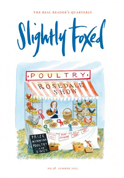Cover Art: Slightly Foxed Issue 38, Emily Sutton, 'Country Show' Emily Sutton is an artist and illustrator who lives and works in York. She has illustrated children's books for the Victoria and Albert Museum and Walker Books, and has worked on projects for Bettys and Taylors, Random House, Penguin Books and Hermes among others. She especially enjoys drawing interesting junk-shop finds and shop fronts. For more examples of her work see www.emillustrates.com