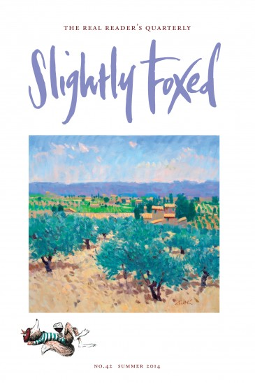 Slightly Foxed Issue 42, George Devlin, 'Searing Heat: Baumes de Venise' George Devlin was a Glasgow-based artist who exhibited internationally and whose work is represented in civic, corporate and private collections worldwide, in addition to the Scottish National Gallery of Modern Art and the National Portrait Gallery of Scotland. For more about George's work please contact the Portland Gallery: edh@portlandgallery.com.