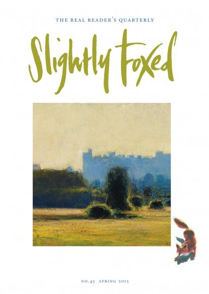 Slightly Foxed Issue 45, Andrew Gifford, 'Arundel Cathedral, early evening light' Born in Middlesbrough in 1970, Andrew Gifford is now recognized as one of the most innovative landscape painters working today. His paintings and light installations have been widely exhibited, including many solo public shows. His work is in the New Art Gallery, Walsall, and Chatsworth House, and in private collections in Europe, America and Asia. For more details visit www.jmlondon.com.