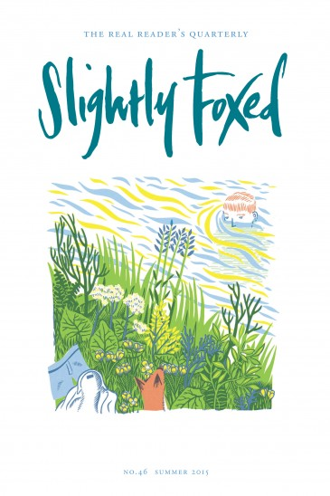 Slightly Foxed Issue 46, James B. W. Weston, 'Summer Riverbank' James B. W. Lewis is a printmaker and illustrator based in London. He makes relief prints and drawings inspired by nature, history and literature. Recent clients include the Oxford American and Caught by the River. More examples of his work and prints for sale can be seen at www.jwestonlewis.co.uk.