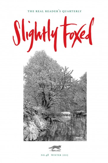Cover Artist: Issue 48, Sarah Woolfenden, 'River in Winter' Sarah Woolfenden trained at The Slade and taught art for many years. Now based in north Devon and a member of the South West Academy she draws large pictures of trees and woods in fine pen. To see more of Sarah's work, which is available as prints and cards, visit www.sarahwoolfenden.co.uk.