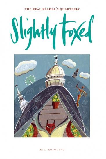 Cover artwork, Linda Scott - Slightly Foxed Issue 5