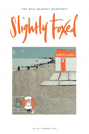Cover Artist: Issue 50, Clare Halifax, Whitstable Lifeguard, print Clare Halifax has a BA Hons in printed textile design and an MA in multi-disciplinary printmaking. The inspiration for her work comes from the buildings that surround her and nostalgic reminiscences of places and items of interest. Within each image, design, pattern and colour play an important part, adding depth and decoration to build an aesthetically pleasing overall effect. To see more of her work visit www.clarehalifax.com.