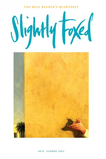 Cover artwork, Ben McLaughlin - Slightly Foxed Issue 6