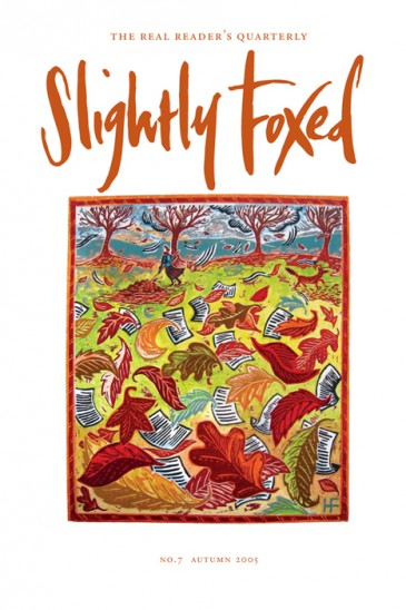 Cover artwork, Hannah Firmin - Slightly Foxed Issue 7