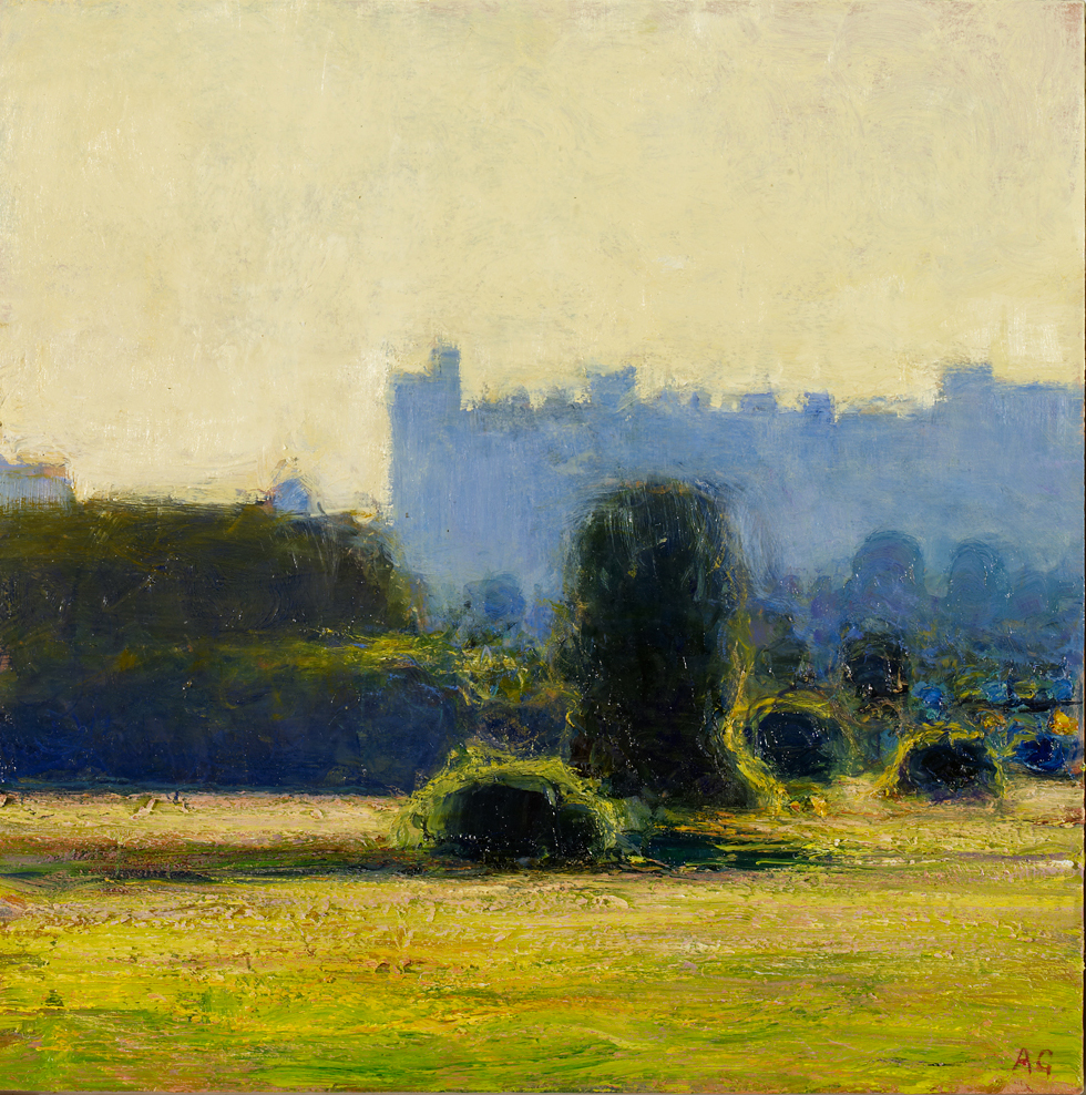 lightly Foxed Issue 45, Andrew Gifford, 'Arundel Cathedral, early evening light' Born in Middlesbrough in 1970, Andrew Gifford is now recognized as one of the most innovative landscape painters working today. His paintings and light installations have been widely exhibited, including many solo public shows. His work is in the New Art Gallery, Walsall, and Chatsworth House, and in private collections in Europe, America and Asia. For more details visit www.jmlondon.com.