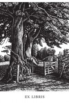 Howard Phipps Bookplates - A Green Lane - Wood Engraving