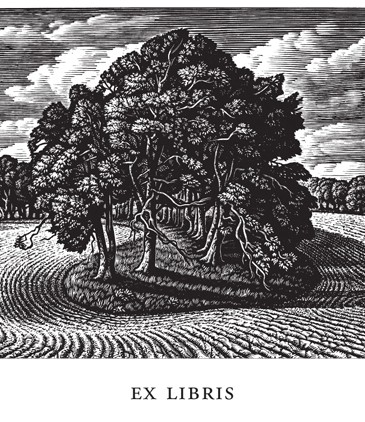 Howard Phipps Bookplates - Cranborne Chase - Wood Engraving