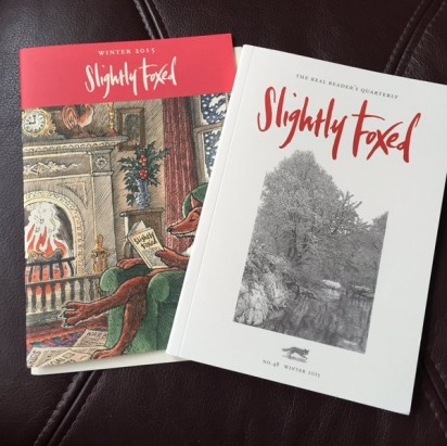 From readers - slightly foxed