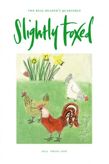 Cover artwork, Emma McClure - Slightly Foxed Issue 9