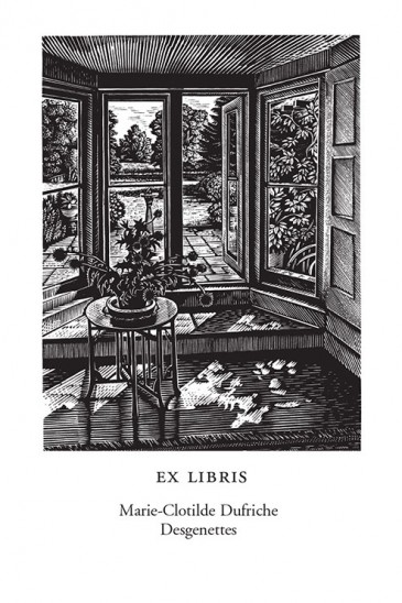 Howard Phipps Bookplates - Water Meadow - Wood Engraving