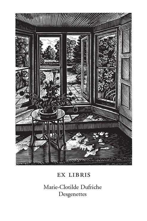 Water meadow from a garden doorway (250 Bookplates)