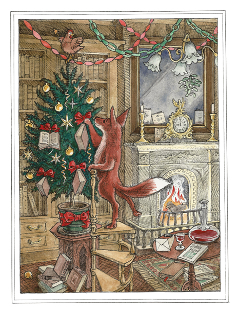 Pack of Christmas Cards: No. II, Decorating the Tree
