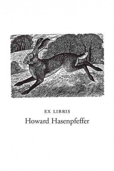 Sue Scullard Bookplates – March Hare - Wood Engraving