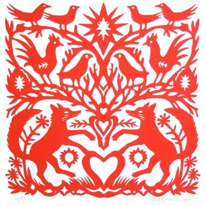 Cover illustration: Mark Hearld, 'Papercut Foxes', screen print