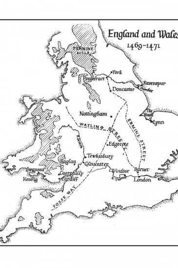 Map from Ronald Welch Sun of York