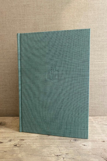 Slightly Foxed Large Duck-egg Blue Notebook