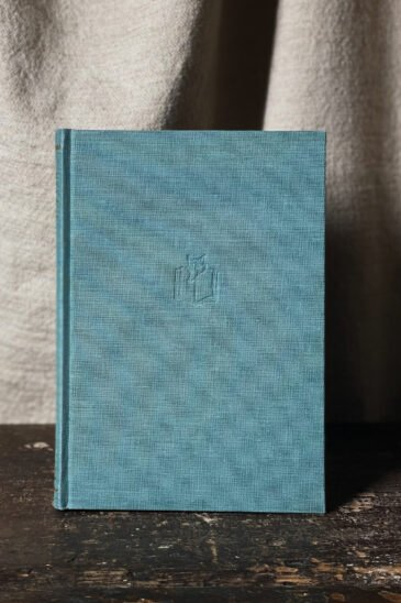 Slightly Foxed Notebook, Duck-egg-Blue, Large
