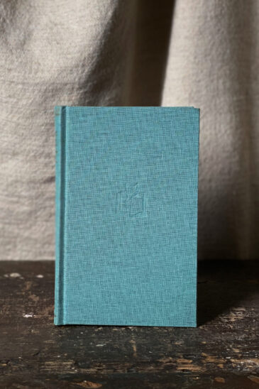 Slightly Foxed Notebook, Duck-egg-Blue, Small