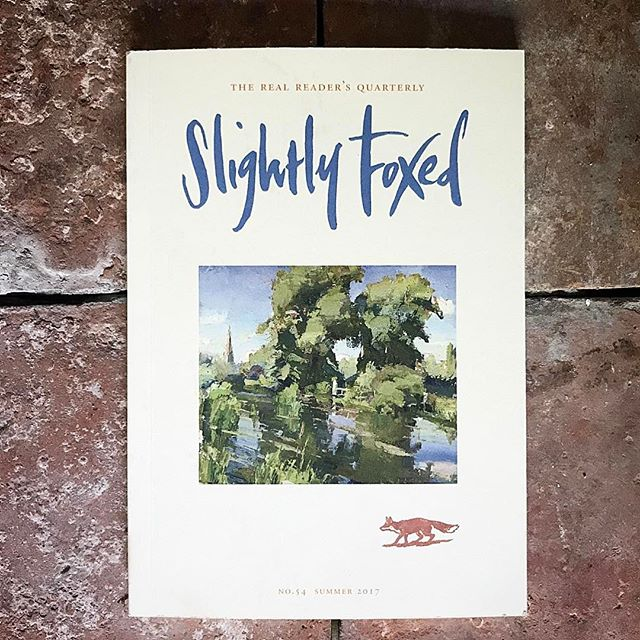 'It's always a red-letter day when the post includes Slightly Foxed – gorgeous new cover, choice list of contents.' Penelope Lively.