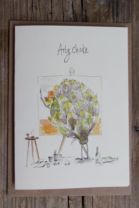 Artychoke Greetings Card