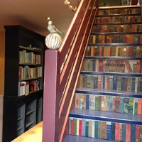 Slightly Foxed Autumn Bookshop of the Quarter: Much Ado Books. Book-spine Staircase.