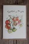 Tomatoes on the Wine Greetings Card