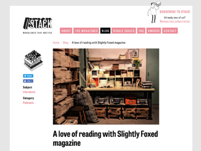 Slightly Foxed For the love of reading Stack magazines